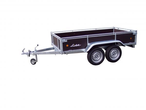 Remorque LIDER BOIS 2.50 m - 2 essieux
