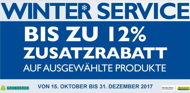 WINTER SERVICE %