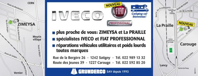 Les agences Iveco - Fiat Professionnal à Carouge & Satigny