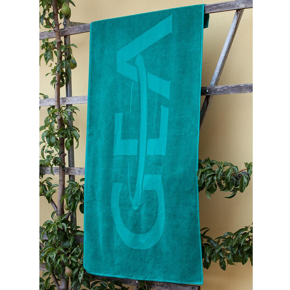 Drap de bain vert en 100% Coton, 70x140cm