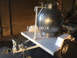Alfa Laval Boule à lait inox 500L
