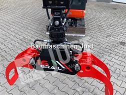 Divers Holzgreifer 1,5-3,0 to für Minibagger MS01