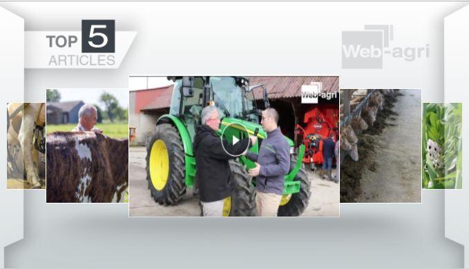 Top articles - Le John Deeresérie 5R et lesméteils à l'affiche sur Web-agri
