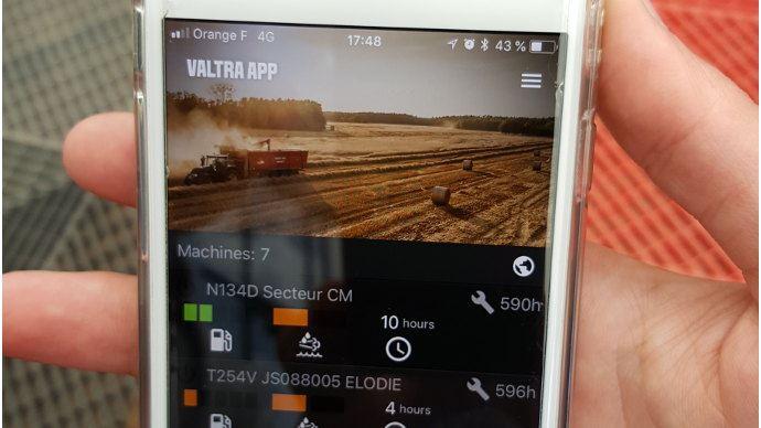 Gestion de flotte - Valtra Connect, latélémétrie pour tracteur sur smartphone