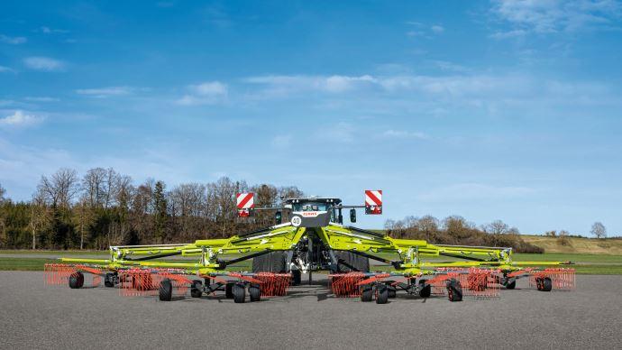 Andaineur rotatif - Claas passe à l'offensive dans la catégorie 4 rotors de grande largeur