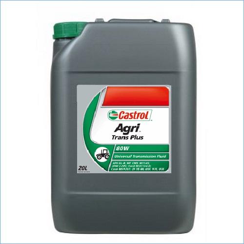 Castrol Agri Trans Plus 80W Huile Minérale de trèsnhaute qualité. API GL-4 M1143. M1141. M1135. M1145 - JDM J20C - FORD M2C 134D - NH 410C - VOLVO VME WB 101 - CASE MS 1207. MS 1209 et MAT 3505 & 3525