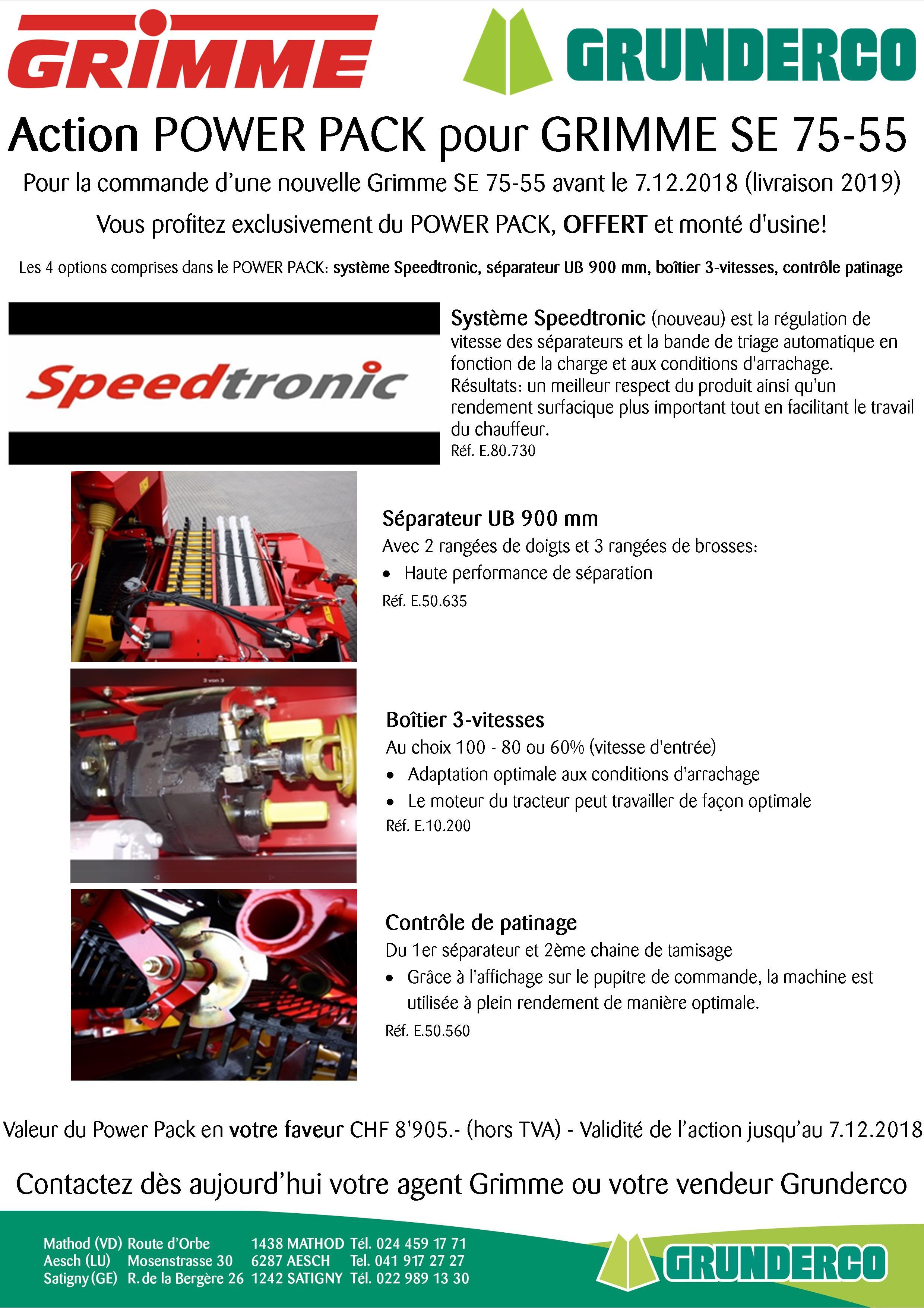 Action POWER PACK pour GRIMME SE 75-55