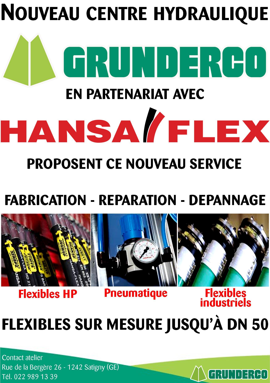 Nouveau centre hydraulique Grunderco en partenariat avec Hansa Flex