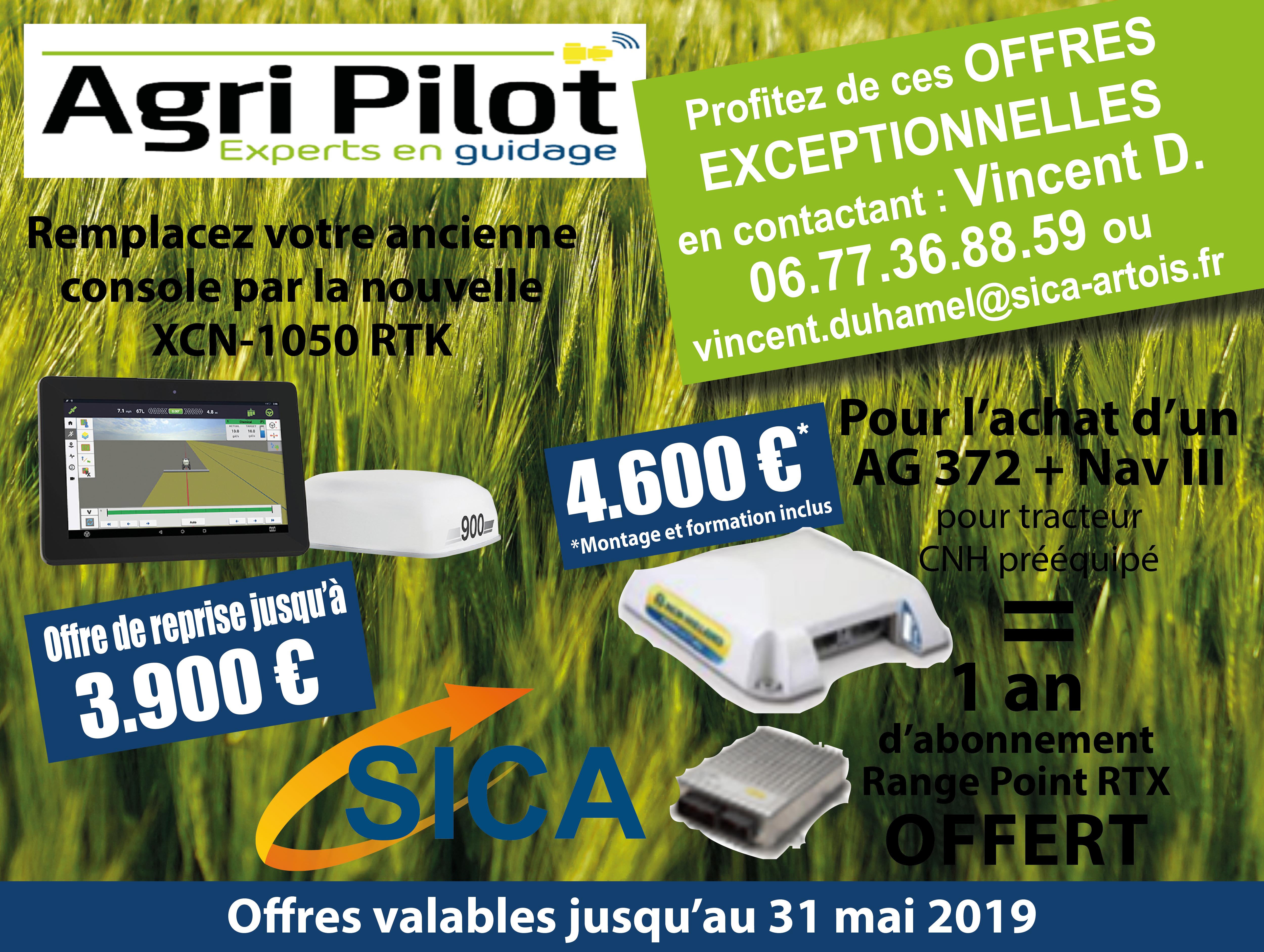 Agri Pilot - Remplacement de la console