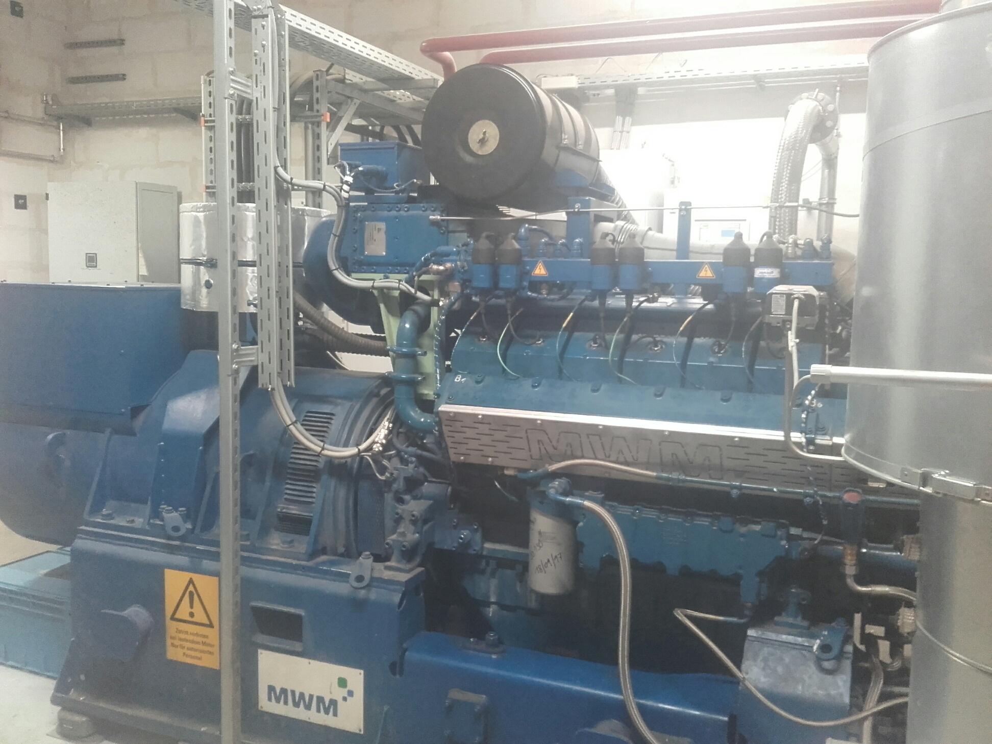 Moteur d'une station de biogaz